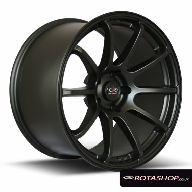 "Rota Force Drift 18"" 9"" 5x114mm ET27 Black Single Rim"