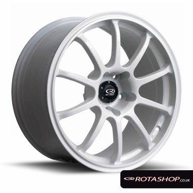 "Rota Force Drift 18"" 9"" 5x114mm ET27 White Single Rim"