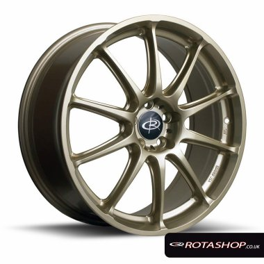 "Rota Gra 17"" 7.5"" 5x114mm ET48 Gold Single Rim"