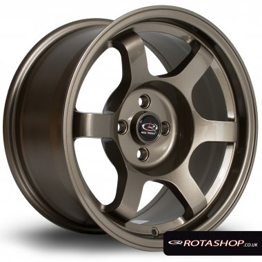 "Rota Grid Drift 15"" 8"" 4x100mm ET20 Bronze Single Rim - Click Image to Close"
