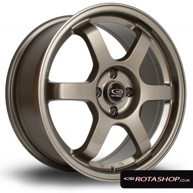 "Rota Grid 17"" 7.5"" 5x114mm ET45 Bronze Single Rim"