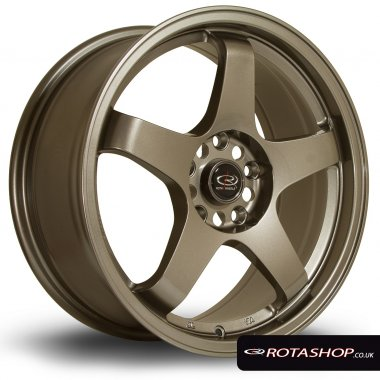 "Rota GTR 17"" 7.5"" 5x114mm ET45 Bronze Single Rim"