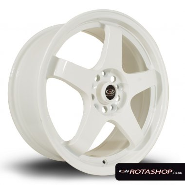"Rota GTR 17"" 7.5"" 5x114mm ET45 White Single Rim"
