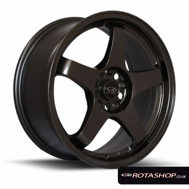 "Rota GTR 17"" 7.5"" 5x114mm ET45 Gunmetal Single Rim"