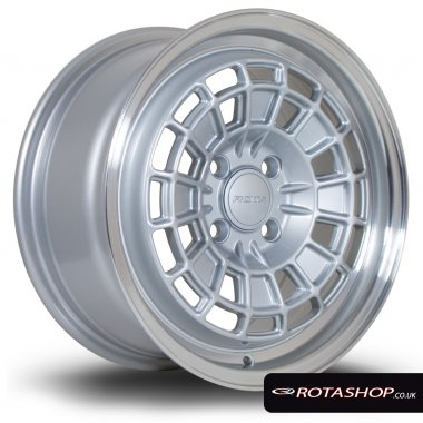 "Rota HB10 15"" 7.0 4x100mm ET40 Silver With Polished Lip Single R"