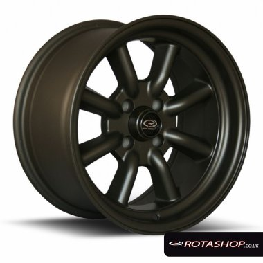 "Rota RKR 15"" 8"" 4x100mm ET0 Matt Bronze Single Rim"