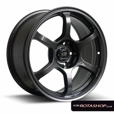 "Rota Boost 16"" 7"" 4x100mm ET45 Gunmetal Single Rim"