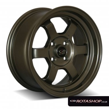 "Rota Grid-V 15"" 7"" 4x100mm ET20 Bronze Single Rim"