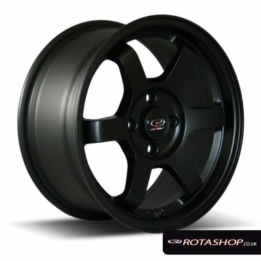 "Rota Grid 15"" 7"" 4x100mm ET40 Flat Black Single Rim"