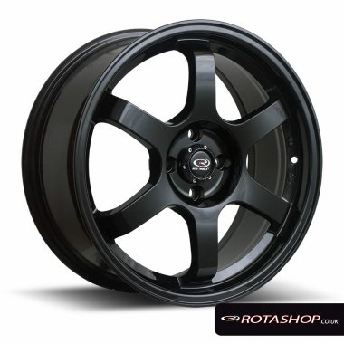 "Rota Grid 16"" 7"" 4x100mm ET40 Flat Black Single Rim"