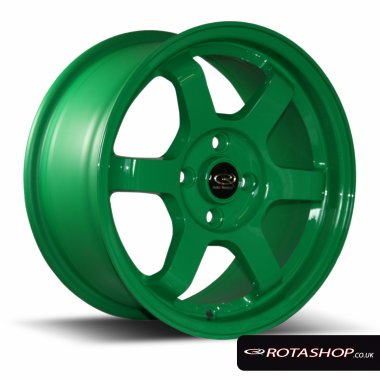 "Rota Grid 15"" 7"" 4x100mm ET40 Green Single Rim"