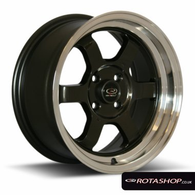 "Rota Grid 15"" 7"" 4x100mm ET40 Gunmetal Polished Lip Single Rim"