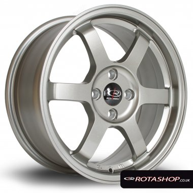 "Rota Grid 16"" 7"" 4x100mm ET40 Steel Grey Single Rim"