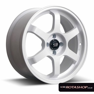 "Rota Grid 16"" 7"" 4x100mm ET40 White Single Rim"