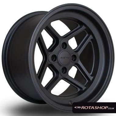 "Rota TBT 15"" 8"" 4x100 ET0 Flat Gunmetal Single Rim"